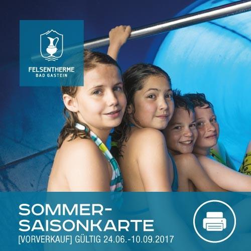 Sommersaison Karte Kind (6 – 15,9 Jahren, ohne Sauna)